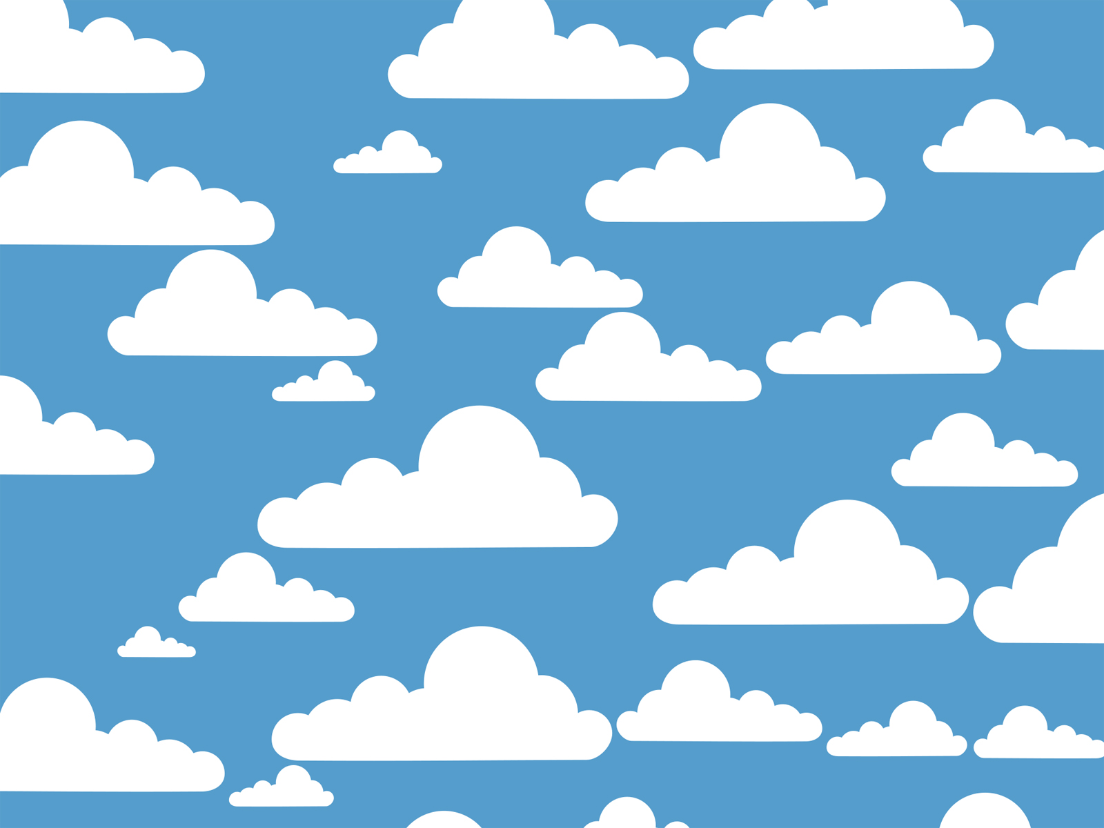 Simple Clouds Powerpoint Templates