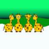Sweet Cartoon Giraffe Backgrounds