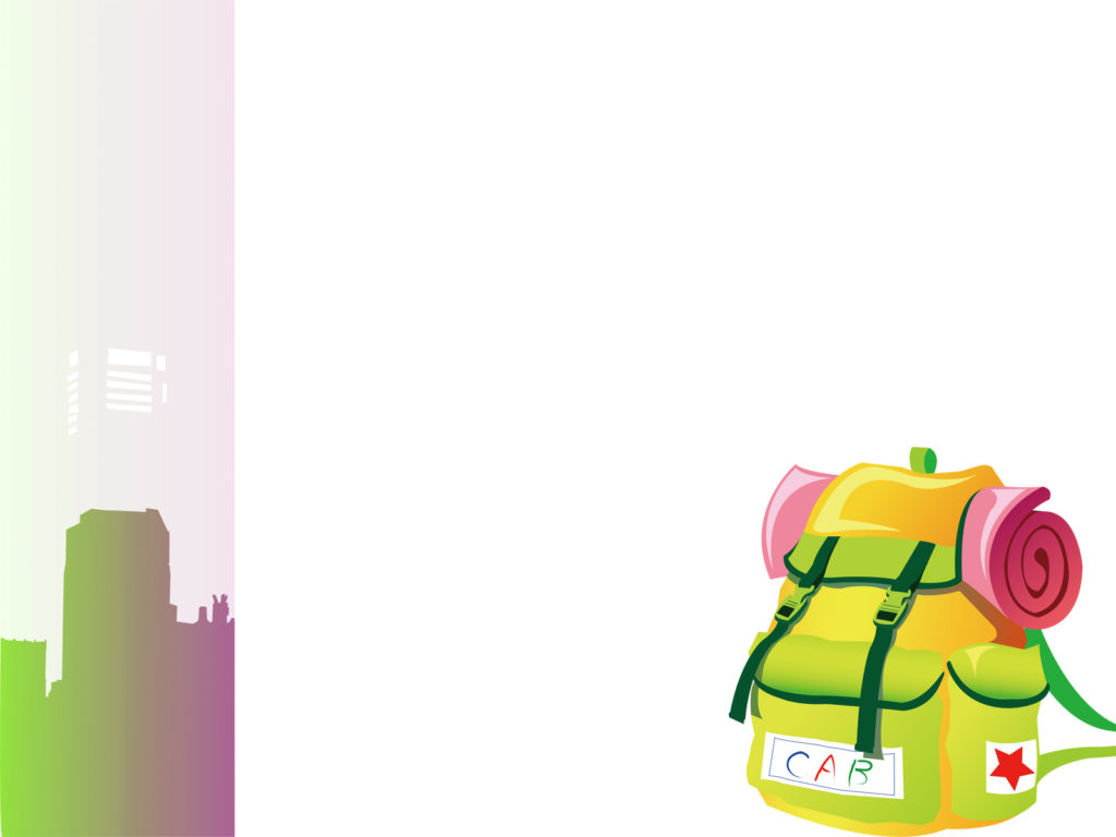 Travel Backpacks PPT Backgrounds - Green, Pink, Travel ...