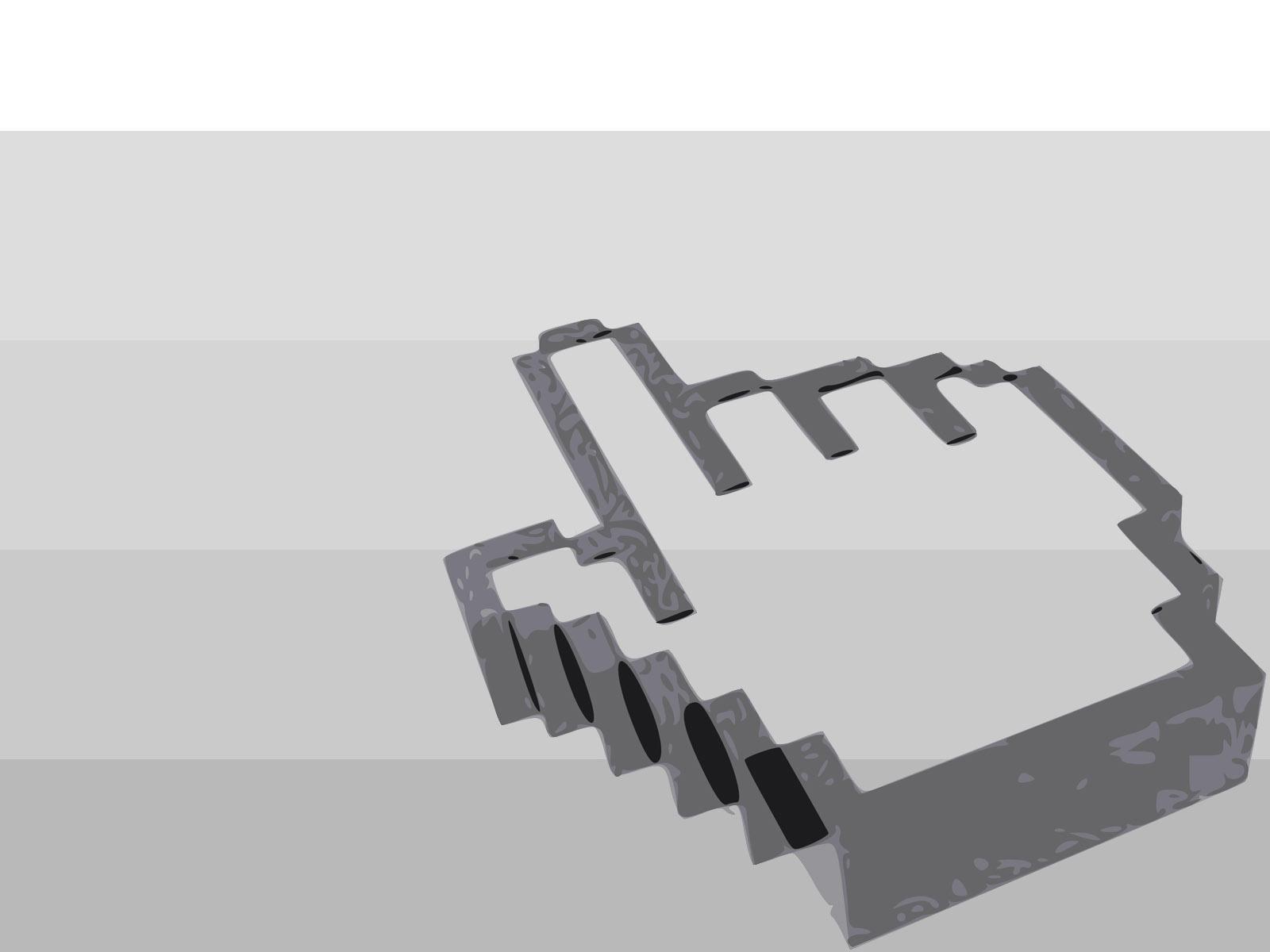 3D hand cursor Backgrounds Design