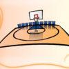 Basketball Court Powerpoint Design
