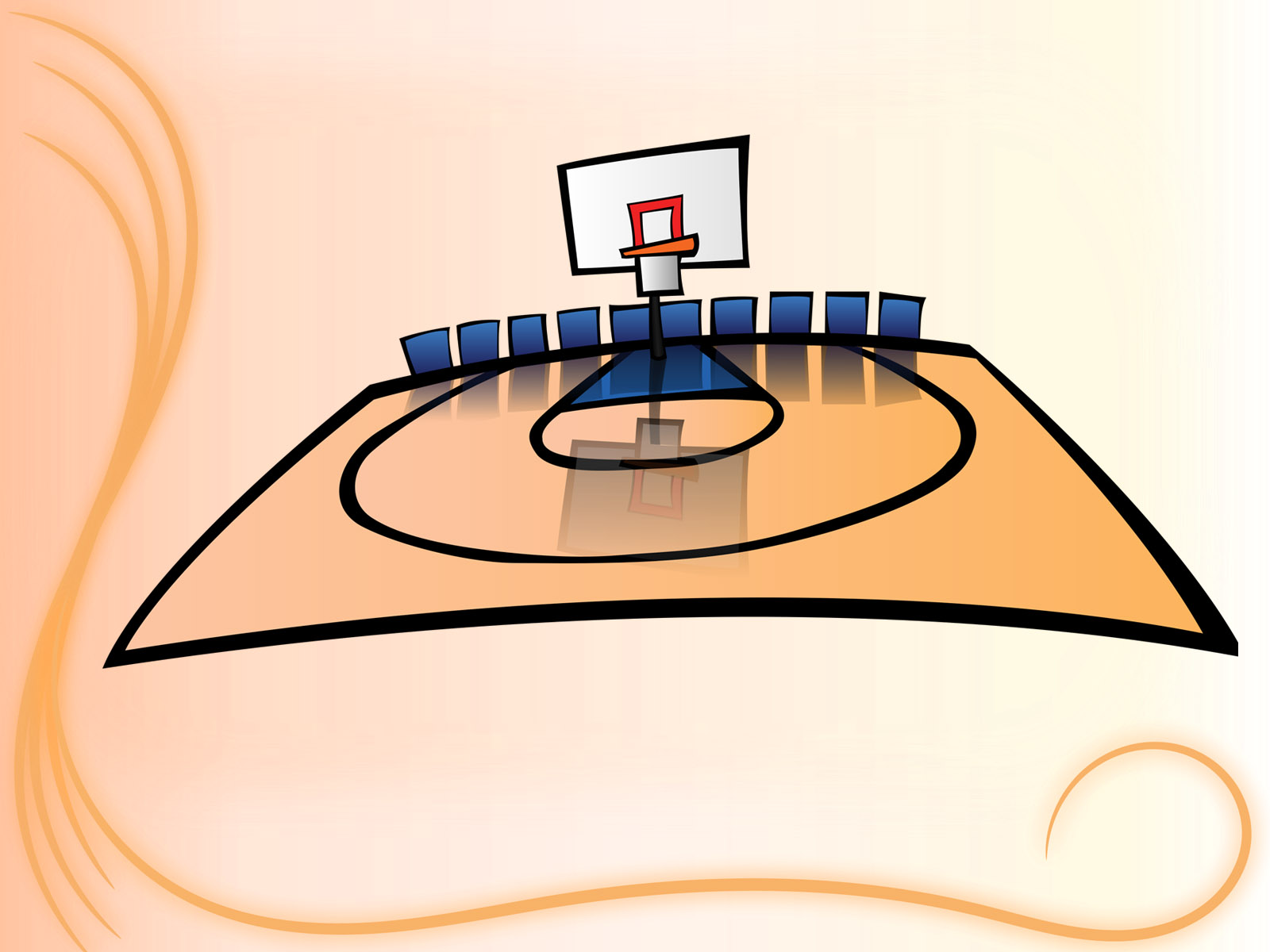 basketball court ppt backgrounds - sports templates - ppt grounds, Modern powerpoint