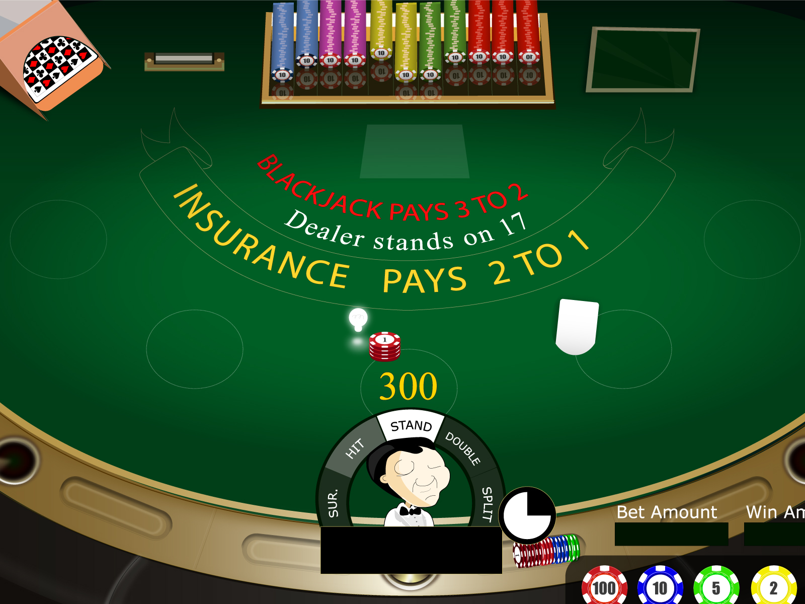 Blackjack Gamble PPT Backgrounds