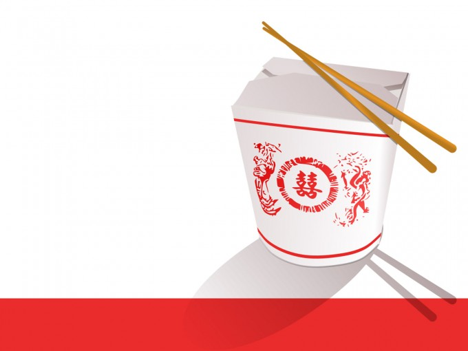 Chinese Fast Food, Feed PPT Backgrounds