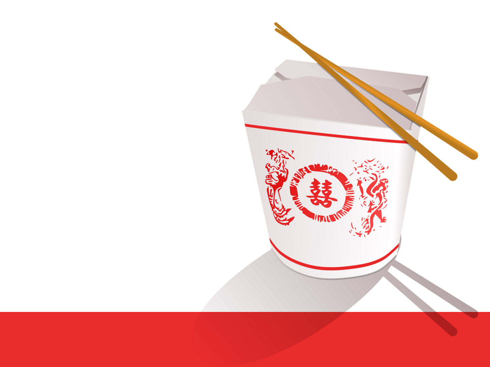 Chinese Fast Food Feed Download Background Information Powerpoint