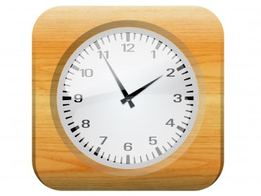Clock with Wood Frame