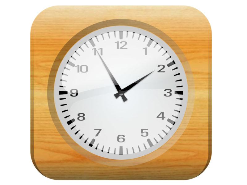 Clock with Wood Frame Backgrounds