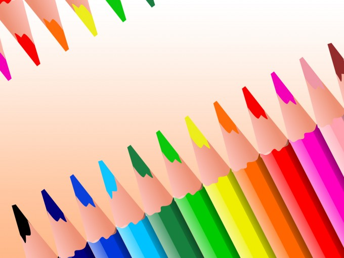 Coloured Pencils for Education PPT Backgrounds