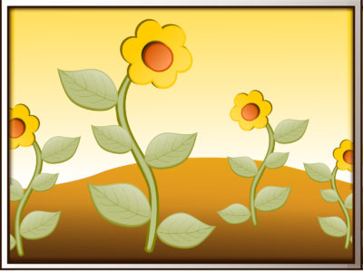 Flowers in field ppt backgrounds