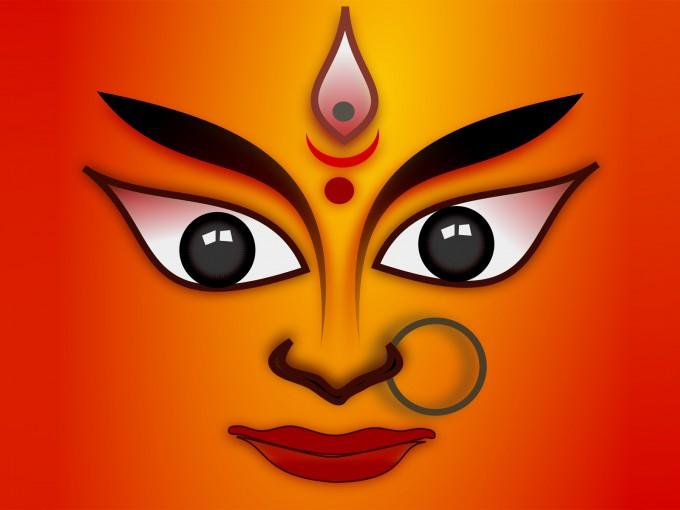 Goddess Durga Religion PPT Backgrounds