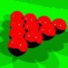 Red Snookers Billiards Game PPT Templates