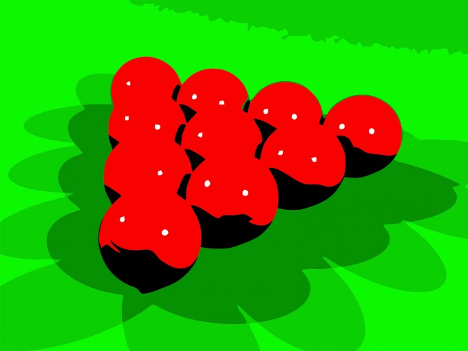 Red Snookers Billiards Game PPT Backgrounds