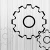 Simple Gears PPT Backgrounds