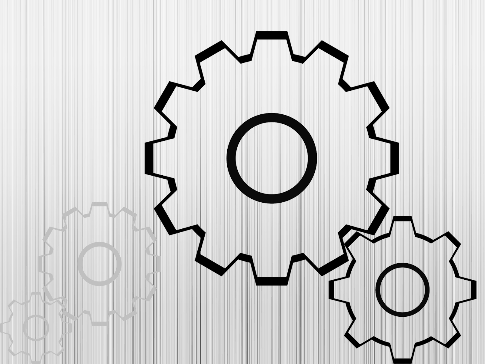 simple gears for engineering ppt backgrounds - engineering, Powerpoint templates