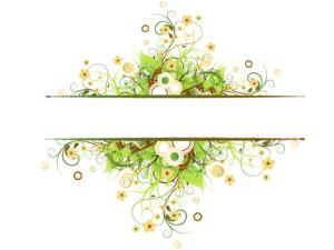 Vintage Floral Frame Backgrounds
