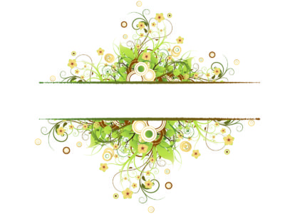 Vintage Floral Frame Backgrounds