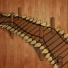 Wooden Bridge Buildings Backgrounds Powerpoint