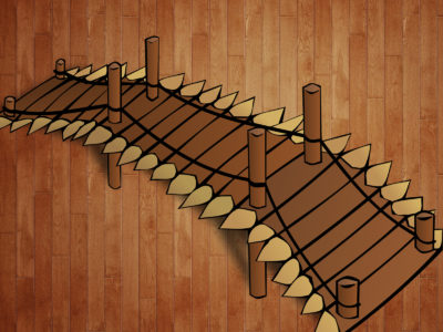 Wooden Bridge Buildings Backgrounds Powerpoint