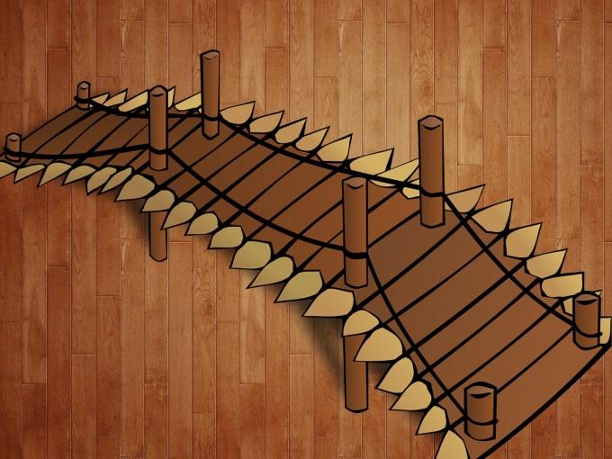 Wooden Bridge Buildings PPT Backgrounds
