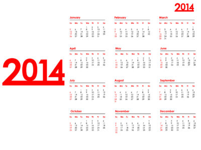 2014 Year Calendar Backgrounds