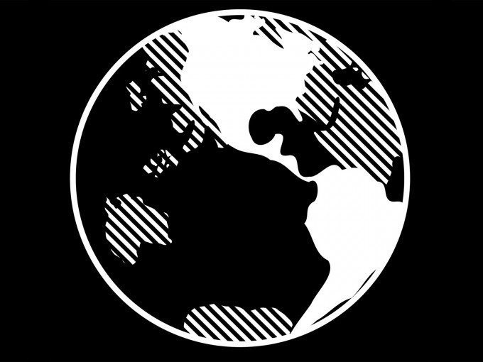 Black and White Earth PPT Backgrounds