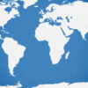 Blue World Map Powerpoint Templates