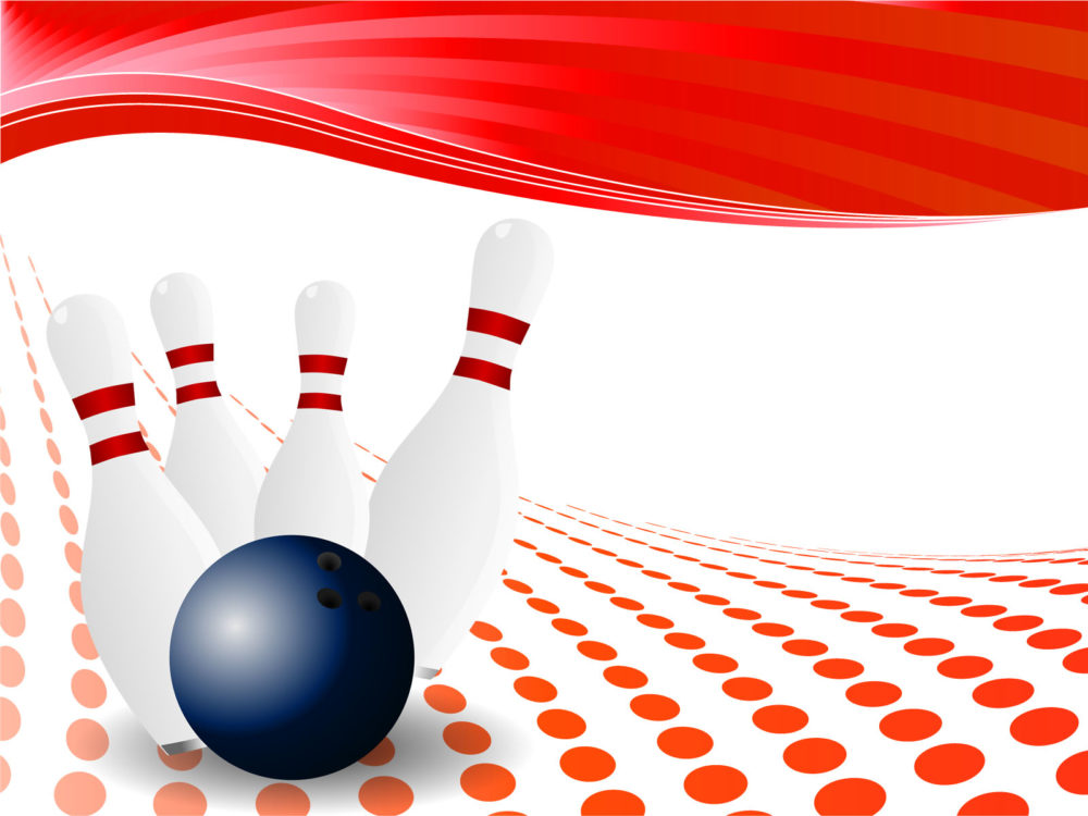 Bowling Pin Powerpoint Design PPT Backgrounds - Games