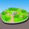 Cartoon 3d Park PPT Backgrounds