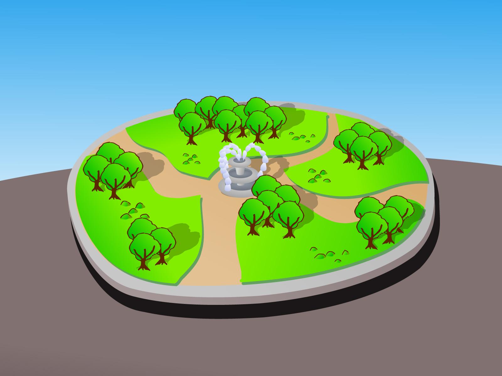 Cartoon 3d Park PPT Backgrounds