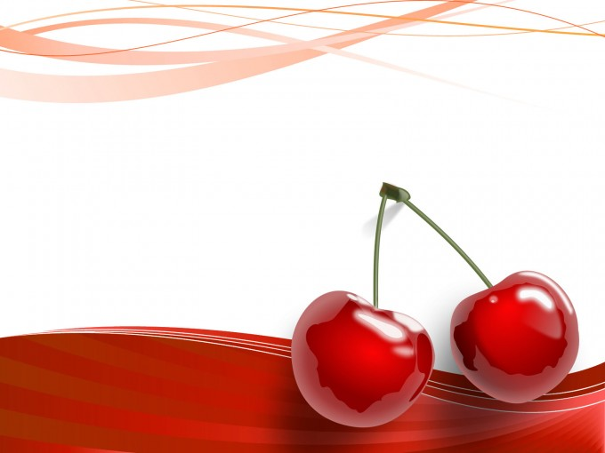 Cherries Fruits PPT Backgrounds