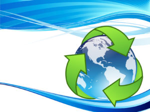 Crystal Earth Recycle Backgrounds PPT