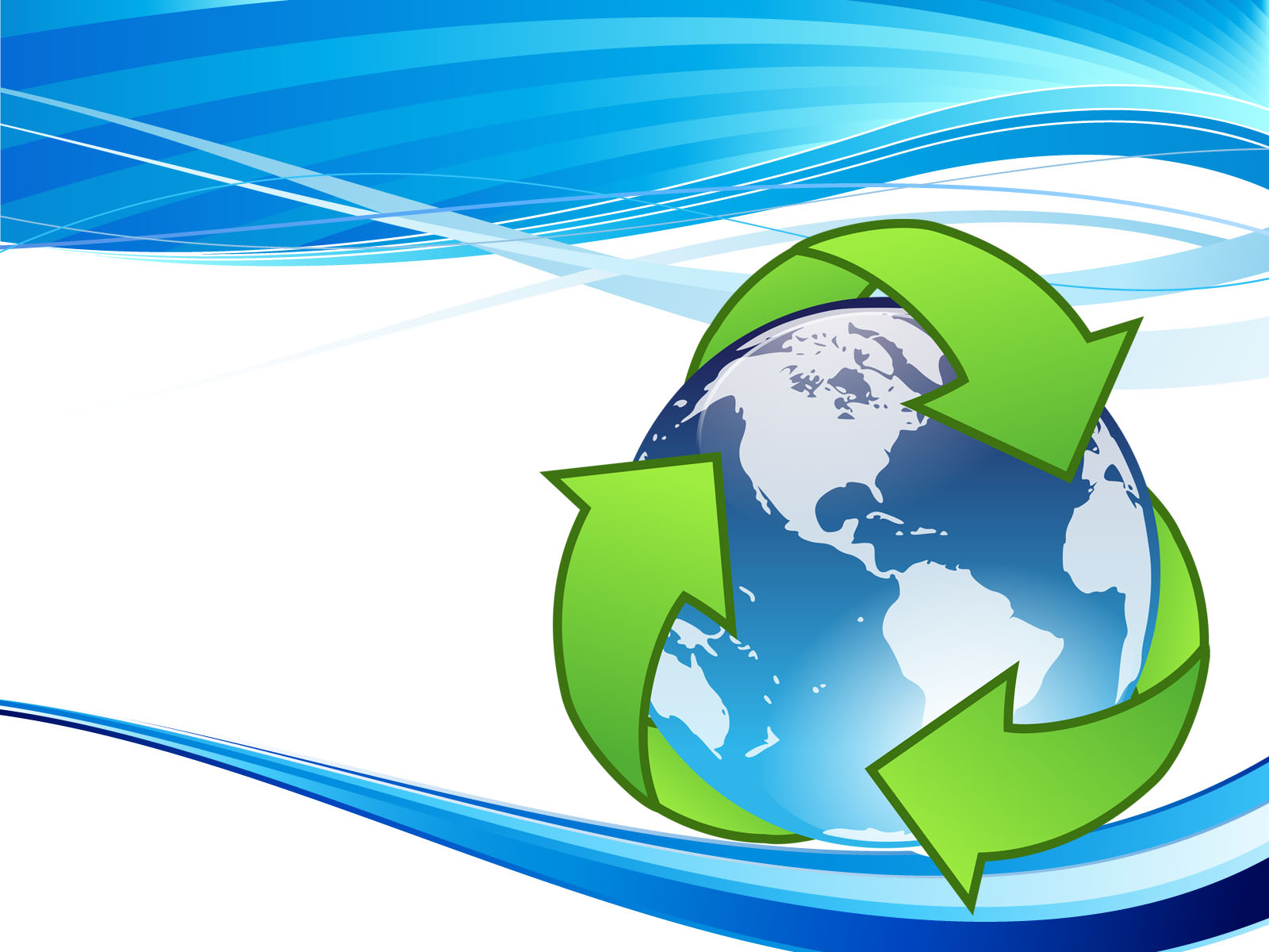 Crystal Earth Recycle PPT Backgrounds - Technology