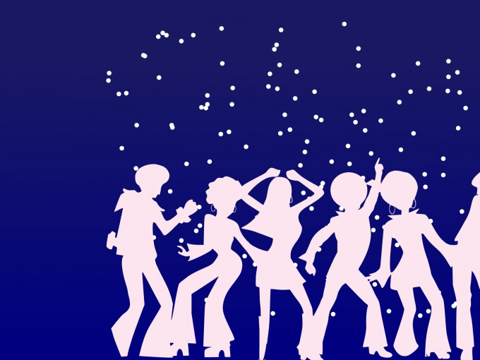 Disco Dancers for Party PPT Backgrounds