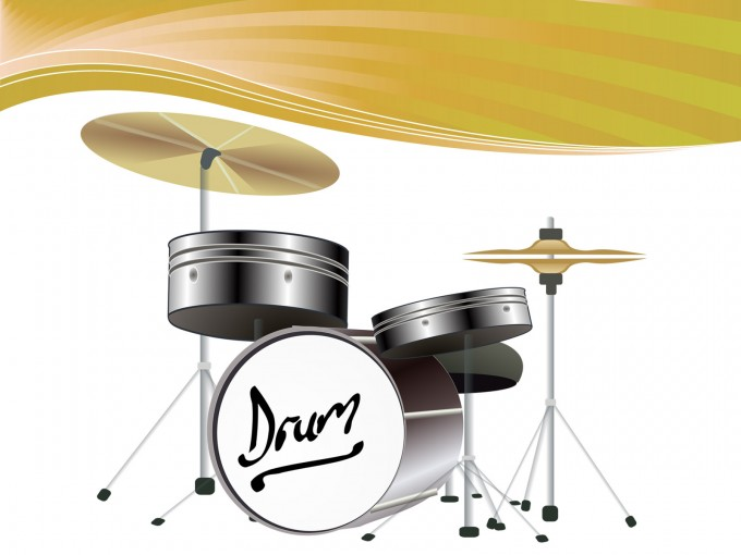 Drum Kit Powerpoint Template PPT Backgrounds