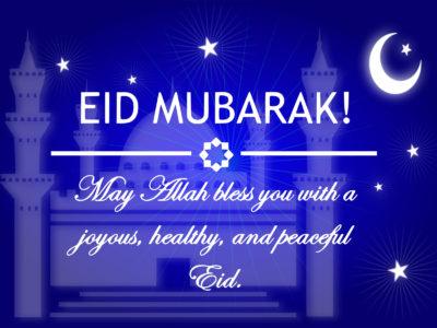 Eid Mubarak Universal Greetings Backgrounds