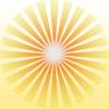 Golden Solar Rays PPT Backgrounds