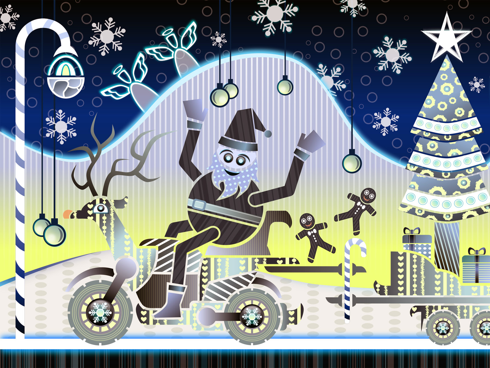 Happy Holidays PPT Backgrounds