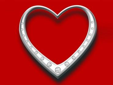 Heart with diamonds