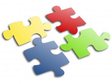 Jigsaw Puzzle Slide Design