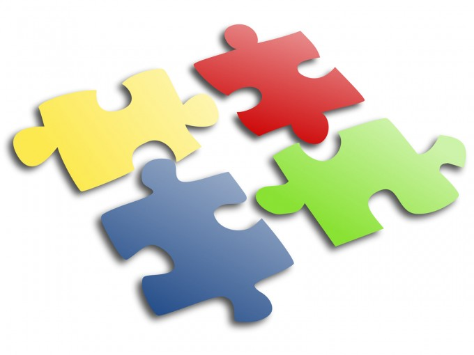 Jigsaw Puzzle Slide Design PPT Backgrounds
