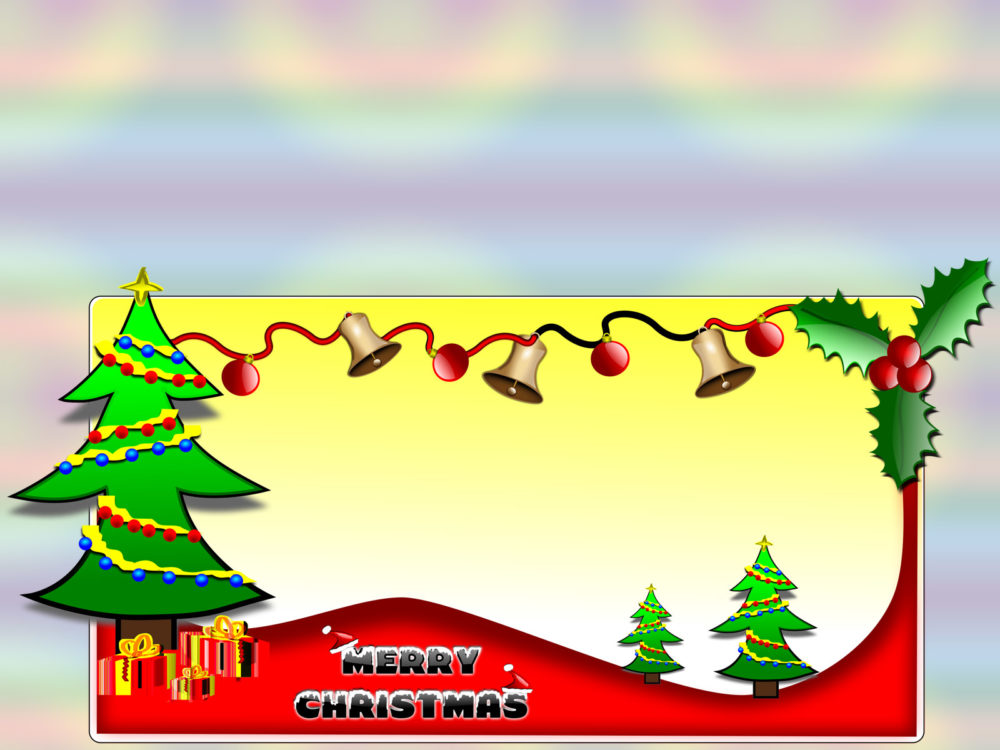 merry christmas clipart ppt backgrounds   christmas green