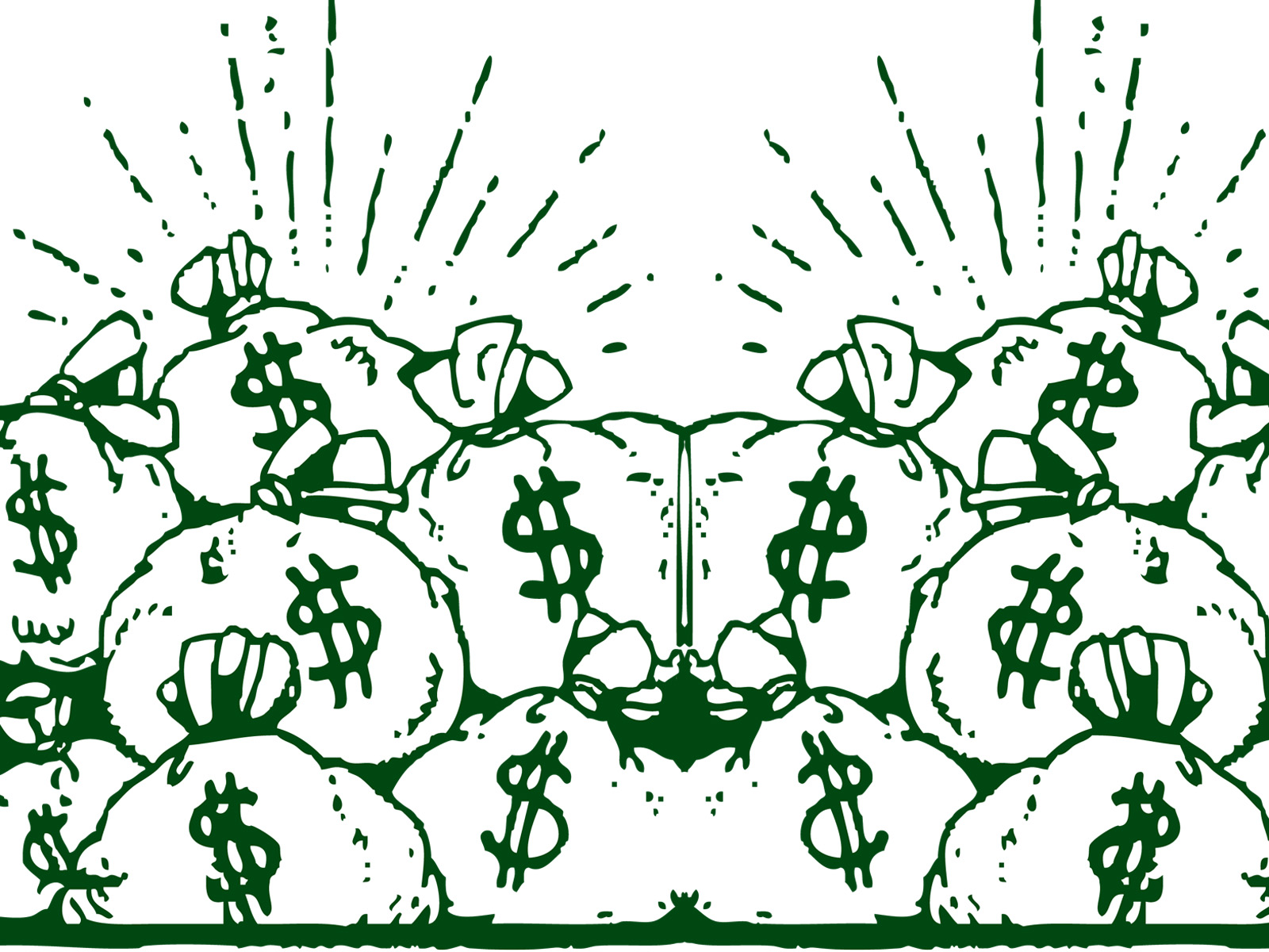 money bags powerpoint design template