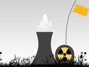 Nuclear power plant with grass ppt backgrounds