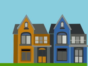 Orange And Blue Homes PPT Backgrounds