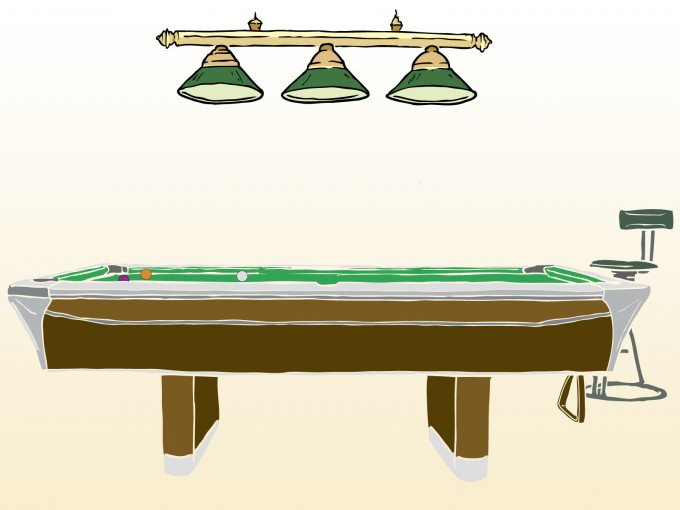Pool Game Table PPT Backgrounds