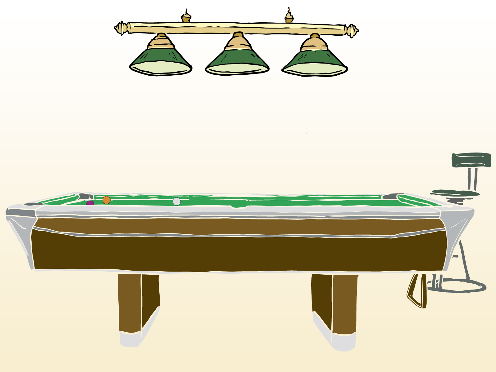 Pool Game Table Powerpoint Backgrounds