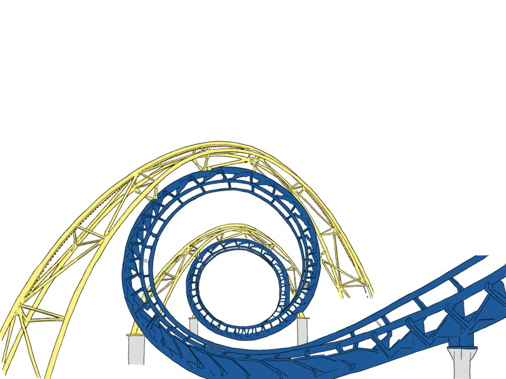 Roller coaster tracks backgrounds 3d engineering templates free normal resolution toneelgroepblik Images