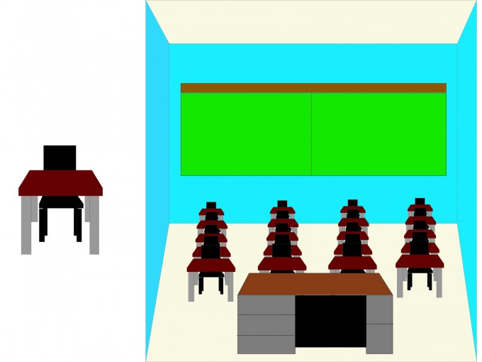 School Class Room PPT Backgrounds