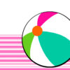 Simple Beach Ball PPT Backgrounds