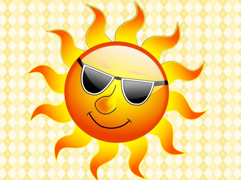 Summer Smile Sun PPT Backgrounds